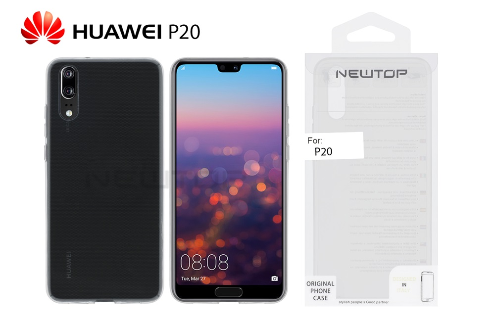 Cover posteriore trasparente flessibile Huawei P20 Newtop MOB220 Newtop