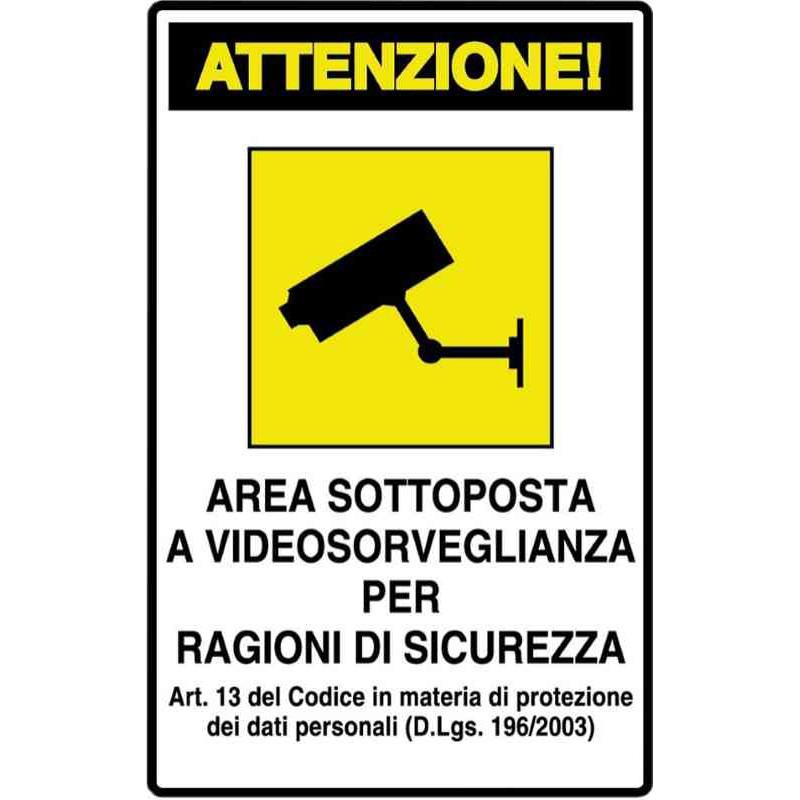 PVC video surveillance sign Z298