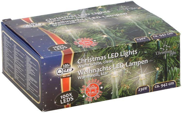 Luci natalizie 100 LED 942cm 230V da interno bianco caldo Christmas Gifts 8711252486604 871125248660