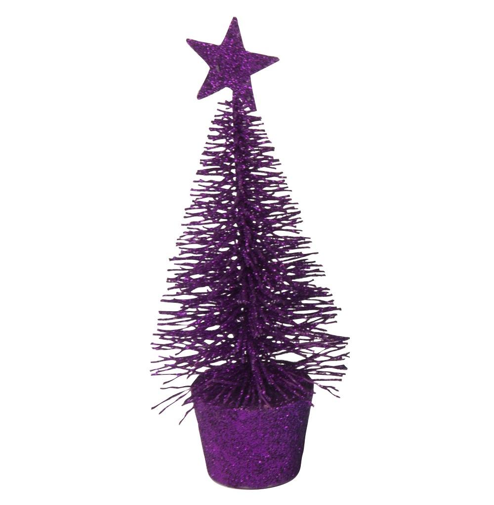 Alberelli natalizi glitterati 14 cm 6 pezzi colori assortiti Christmas Gifts ED1110 Christmas Gift