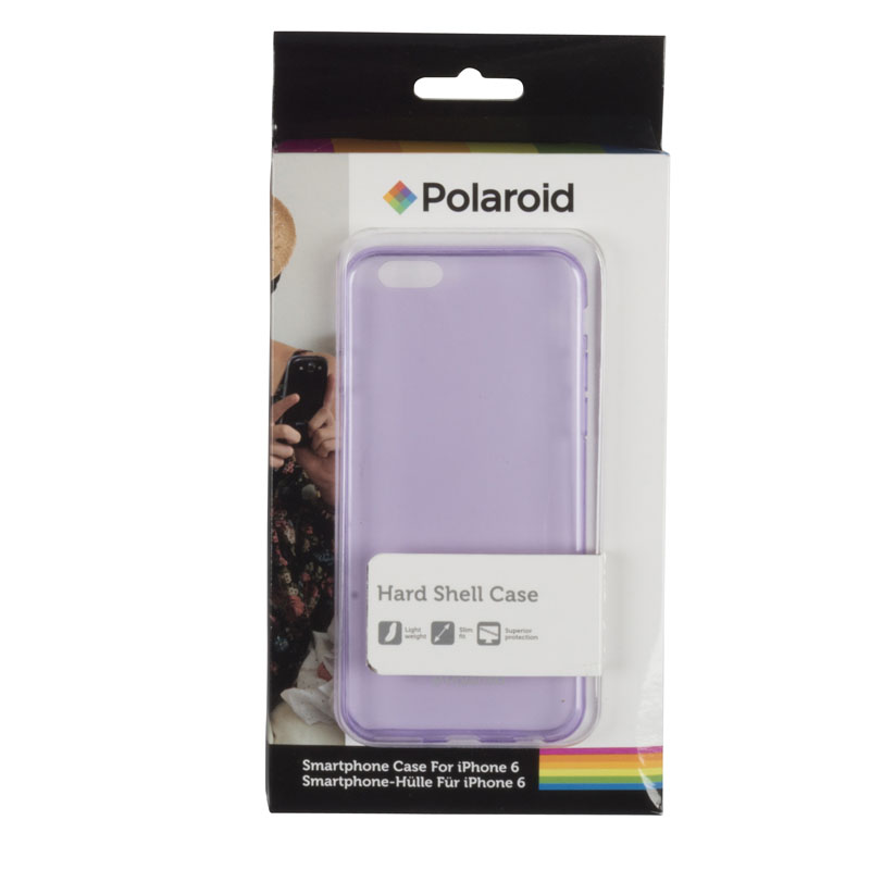 Purple transparent back cover for iPhone 6 Polaroid MOB502 Polaroid