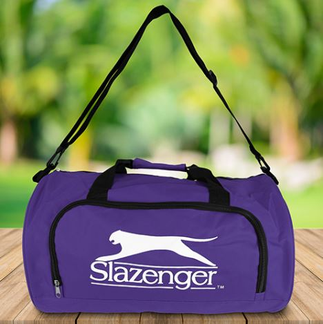 Borsone sportivo 50x30x30cm 35 litri viola Slazenger 8711252050119 871125205011 ED3176
