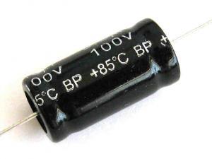 Cond. Elettrolitico assiale 2,2uF 100V non polarizzato 05918