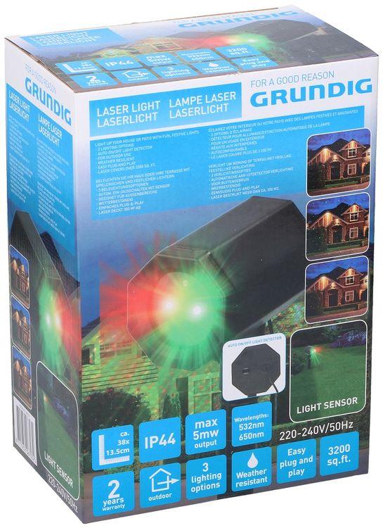Effetto luce laser con rilevatore di movimento IP44 Grundig 8711252067032 871125206703 ED5208