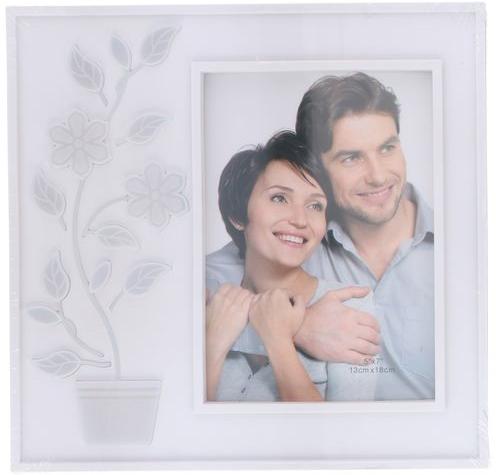 Cornice portafoto 13x18cm  con pianta fiorita LED Bianco ED5432 Arti Casa