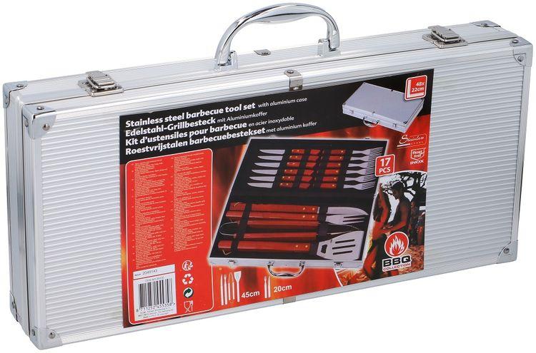 Valigetta 16 utensili da barbecue acciaio INOX Bbq Collection ED5476 Bbq Collection