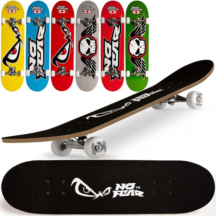 Skateboard 79x20 cm No Fear Rosso ED5526