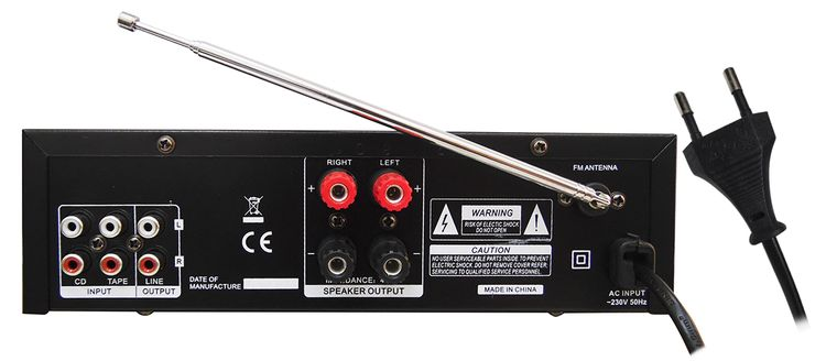 2x 100W MAX stereo amplifier - AV-300 with Bluetooth V3052