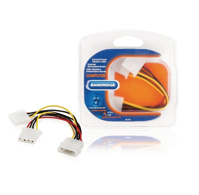 Internal Power Cable Molex Male - 2x Molex Female 0.15 m ND1020 Bandridge