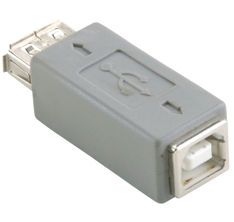 USB 2.0 Adapter USB A Female - B Female Gray ND1035 Bandridge