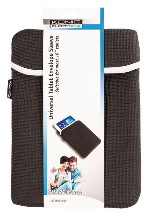 """Tablet Sleeve 10"""" Neoprene Black CST10SLE100 König"""