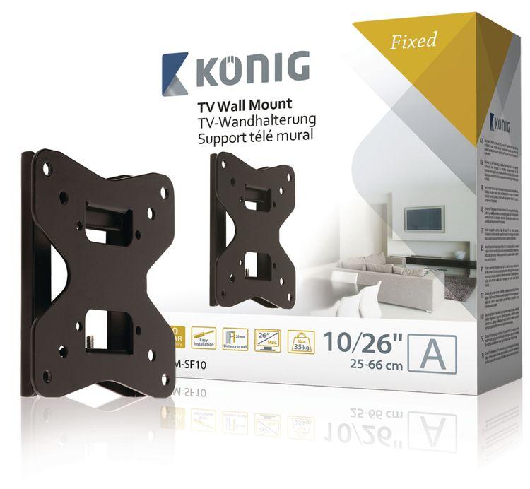 "Fixed Wall Mount 10 - 26 ""35 kg KNM-SF10 König"