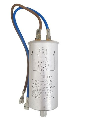 Capacitor 0.68uF 250V for Whirlpool AWG 758, F 1762-0545-224 10114