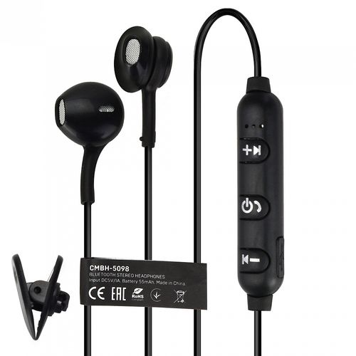 Auricolare Bluetooth Nero CMBH-5098 Crown Micro