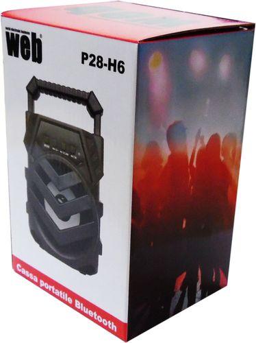 "Bluetooth powered speaker USB microSD 3 ""5W RMS LED P28-H6"
