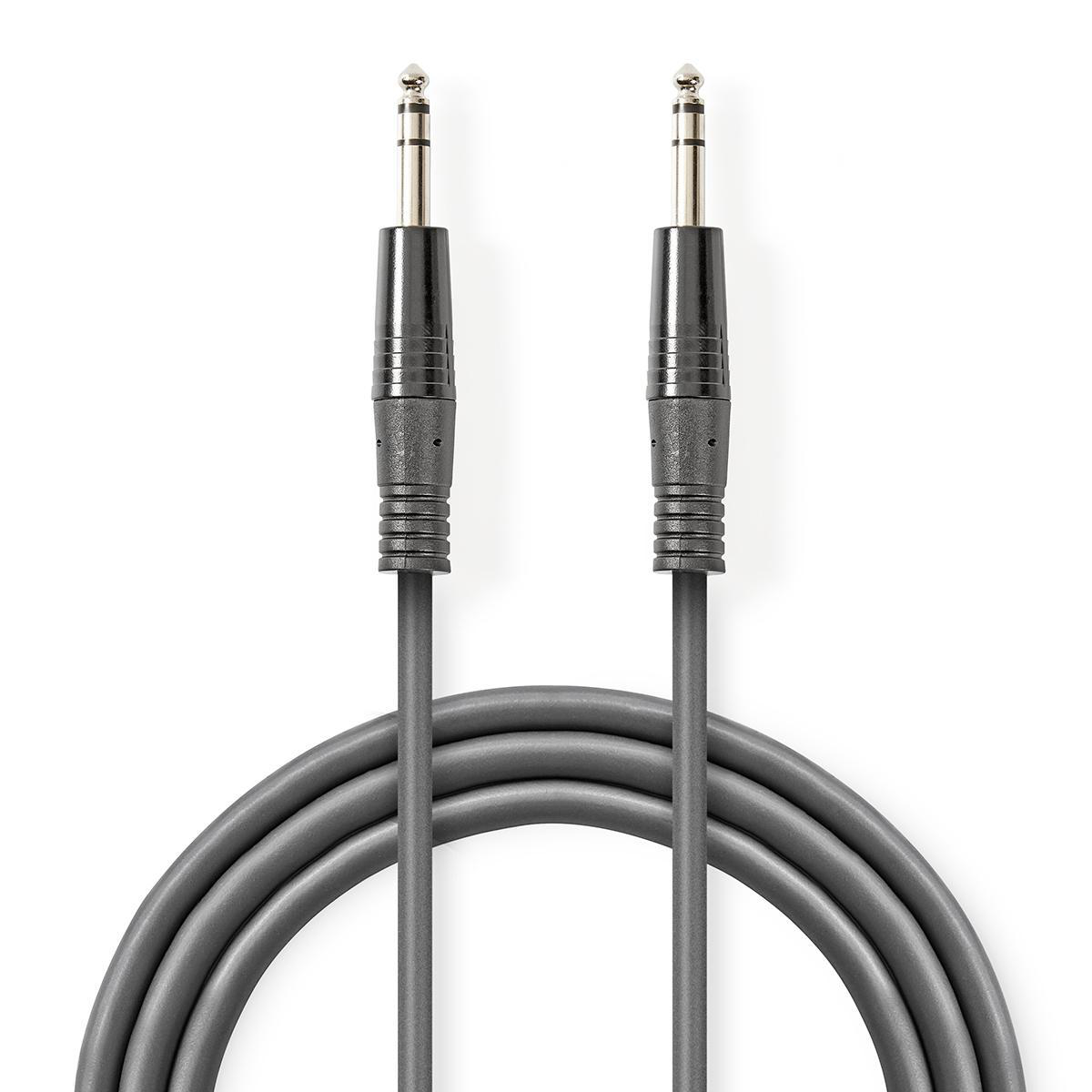 Stereo Audio Cable 6.35 mm Male - 6.35 mm Male 5.0 m Dark Gray ND2635