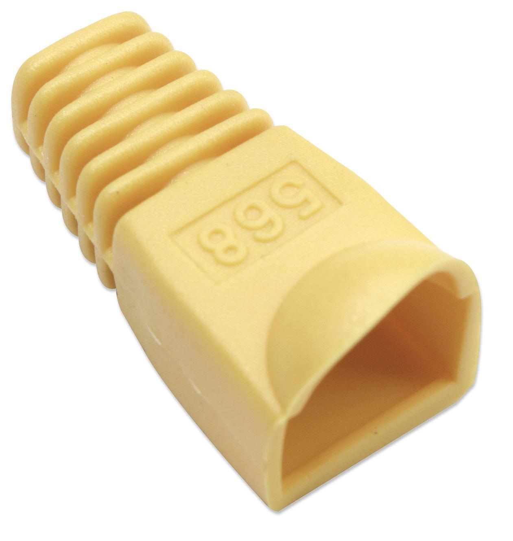 Copriconnettore per Plug RJ45 6.2mm Giallo F1021 Intellinet