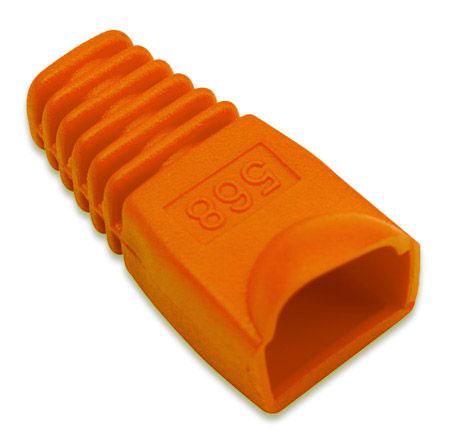 Copriconnettore per Plug RJ45 6.2mm Arancio 08800 Intellinet