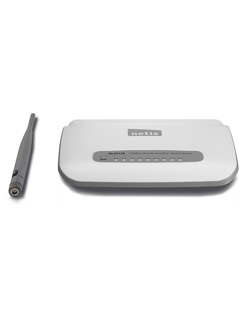 DL4311D - 150Mbps Wireless N ADSL2+ Modem Router con antenna staccabile DL4311D Netis