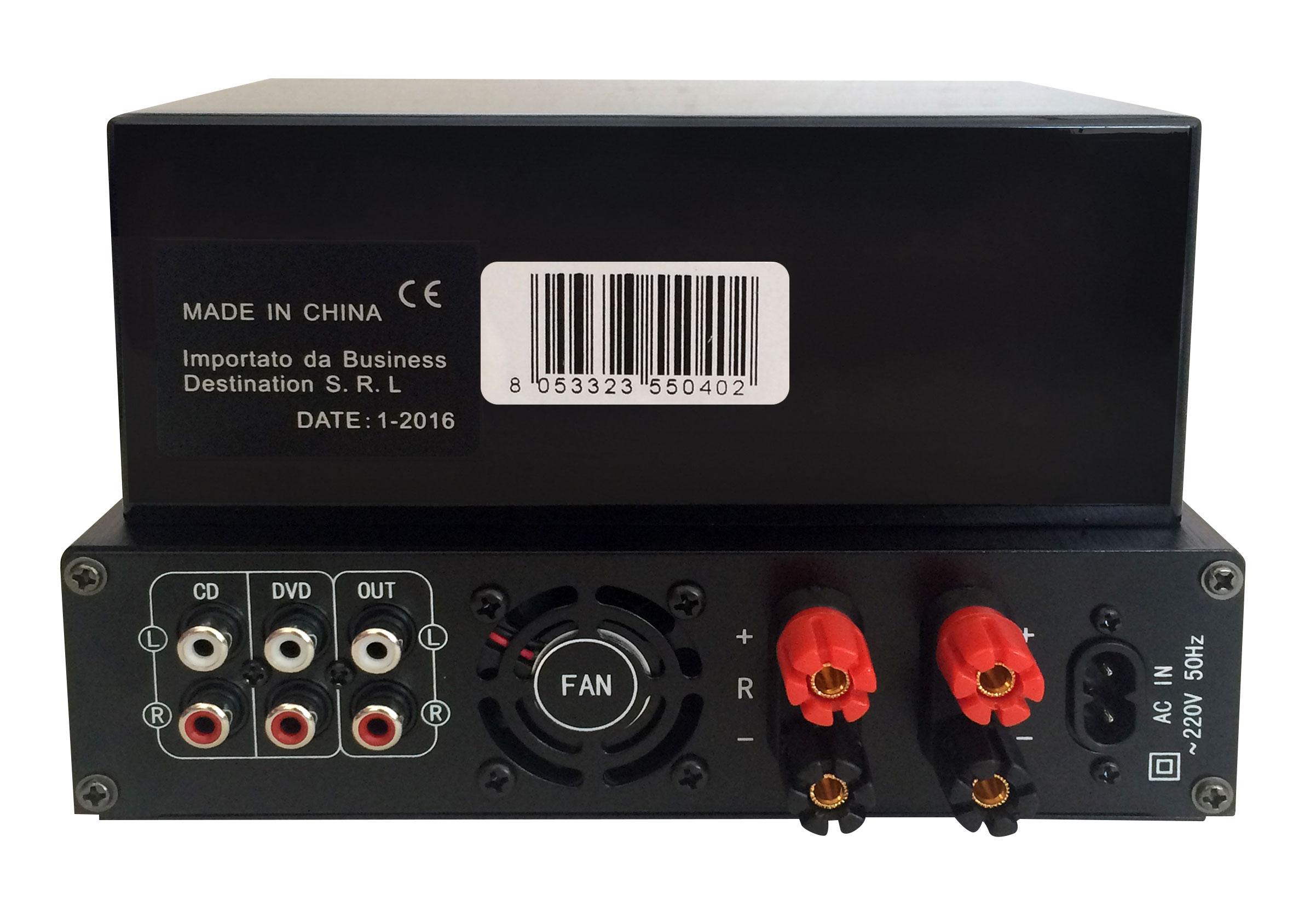 35W + 35W tube amp with USB and Bluetooth - black SP970 Plug&Sound