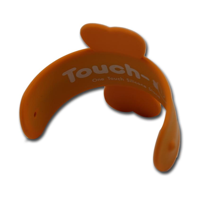 TOUCH-U - Supporto in silicone per smartphone - Arancio 92835