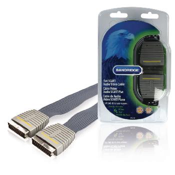SCART Cable Male - SCART Male - 0.50 m flat - Blue A1160 Bandridge