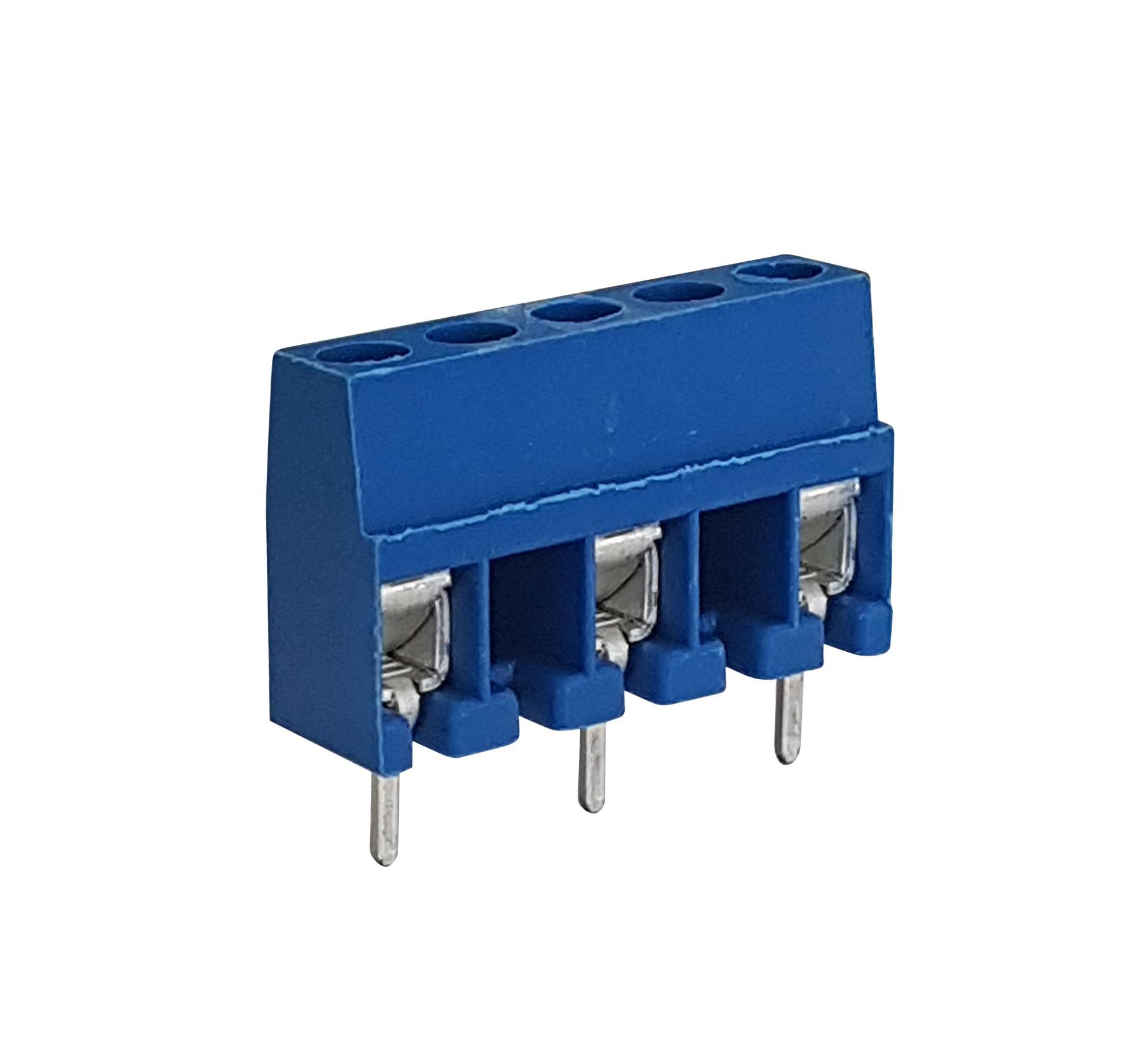 Morsettiera per circuito stampato 3 poli - Blu 91559
