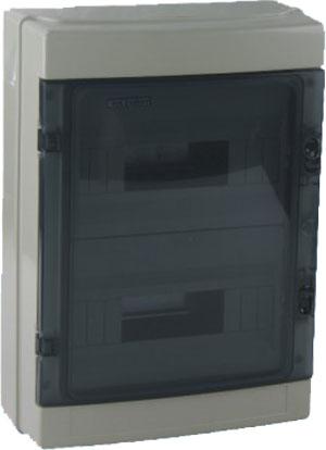 Centralino da Parete 18 moduli con porta trasparente EL180