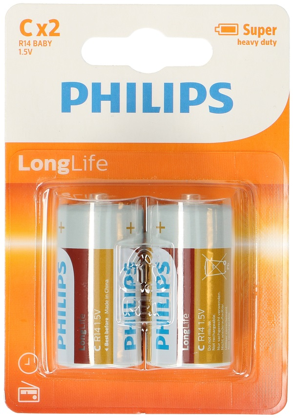 Philips R14 / C batteries - Pack of 2 pieces ED112 Philips