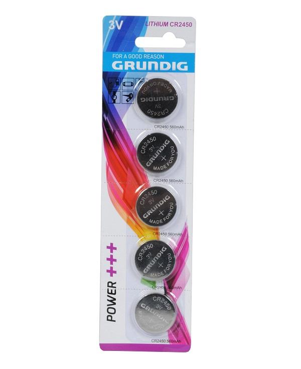 Batterie Grundig a bottone CR2450 - Confezione 5 pezzi ED126 Grundig