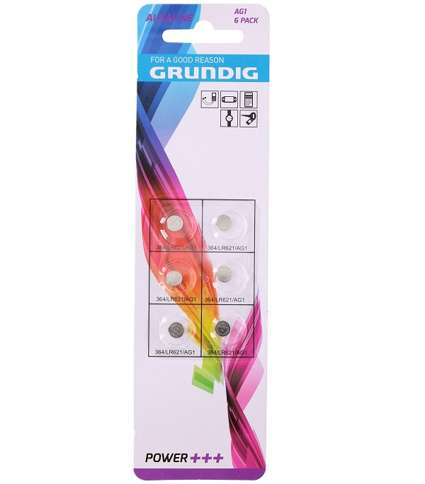 Batteria Grundig a bottone AG1 - Confezione 6 pezzi ED128 Grundig