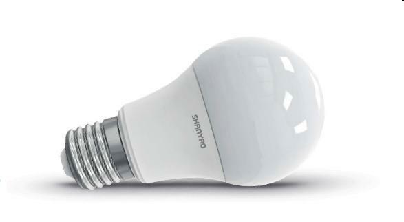 LED Bulb Lamp A60 10W with E27 socket - warm light 5747 Shanyao