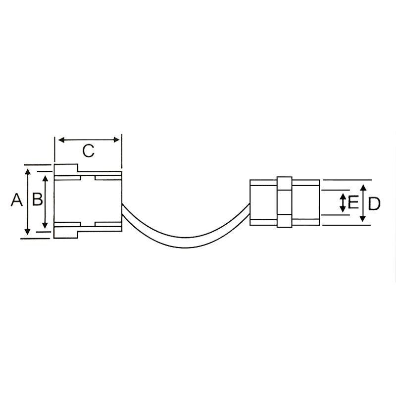 Boccola passacavo/fissacavo 5.5mm - nero 10516 FATO