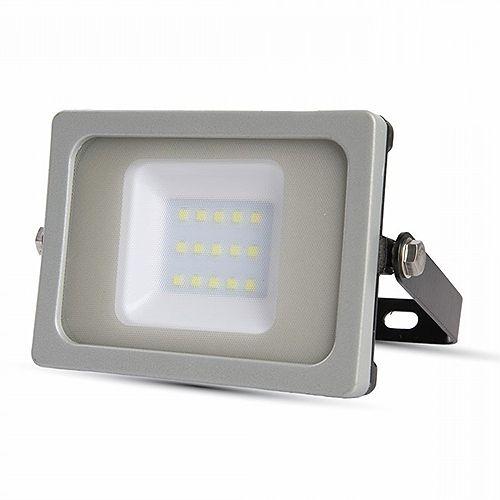 V-TAC VT-4911 Faretto LED SMD 10W Slim da esterno colore grigio - Bianco naturale 4000K LED644