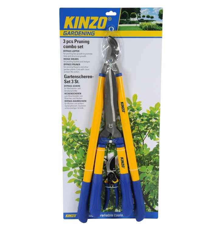 Set of 3 Kinzo garden shears ED688 Kinzo