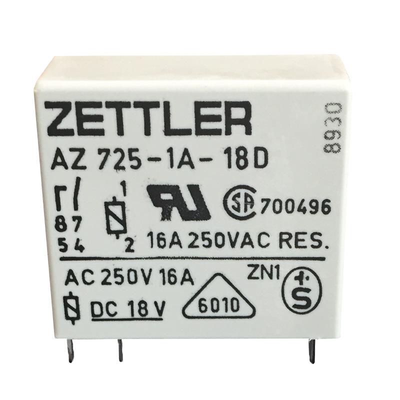 Relè 18V SPST - AZ725-1A-18D - ZETTLER EL268