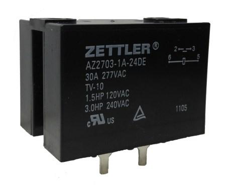 Relè DPST 30A - AZ2703-2A-220AE - ZETTLER EL374