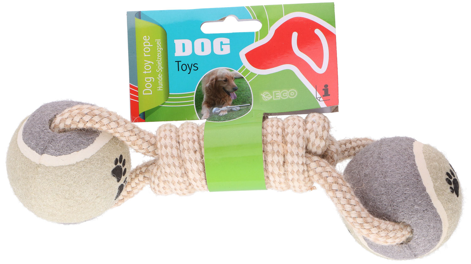 Dog rope game and two Pet Toys balls ED830 PET TOYS