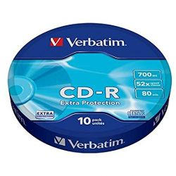Verbatim CD-R 80min Extra Protection - Pack of 10 pieces H103