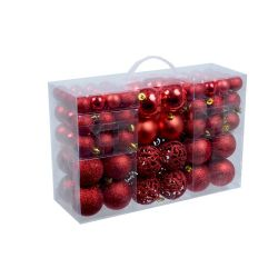 Confezione 100 palline natalizie assortite rosso Christmas Gifts ED1170 Christmas Gift