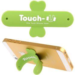 TOUCH-U - Supporto in silicone per smartphone - Verde H592