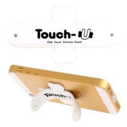 TOUCH-U - Supporto in silicone per smartphone - Bianco H649