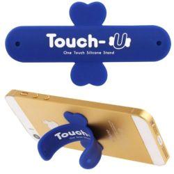 TOUCH-U - Supporto in silicone per smartphone - Blu M206