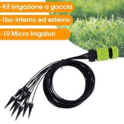 Kit di irrigazione a goccia 10 micro irrigatori Kinzo ED1254