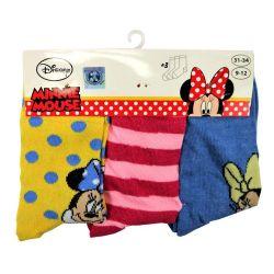 Disney Minnie Mouse Socks Size 31/34 - 3 pairs ED3306 Disney