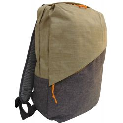 Beige-gray padded multi-function backpack MOB1004