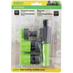 Set ugello e raccordi per irrigazione 4 pezzi Kinzo ED5044