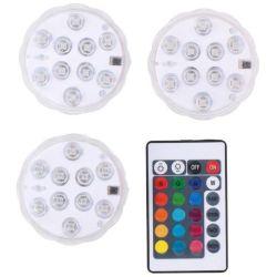 Set 3 luci LED RGB in ABS IP65 con telecomando ED5056