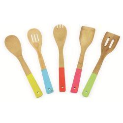 Set 5 utensili da cucina in bamboo ED5254