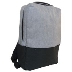Gray-black padded multi-function backpack MOB1030